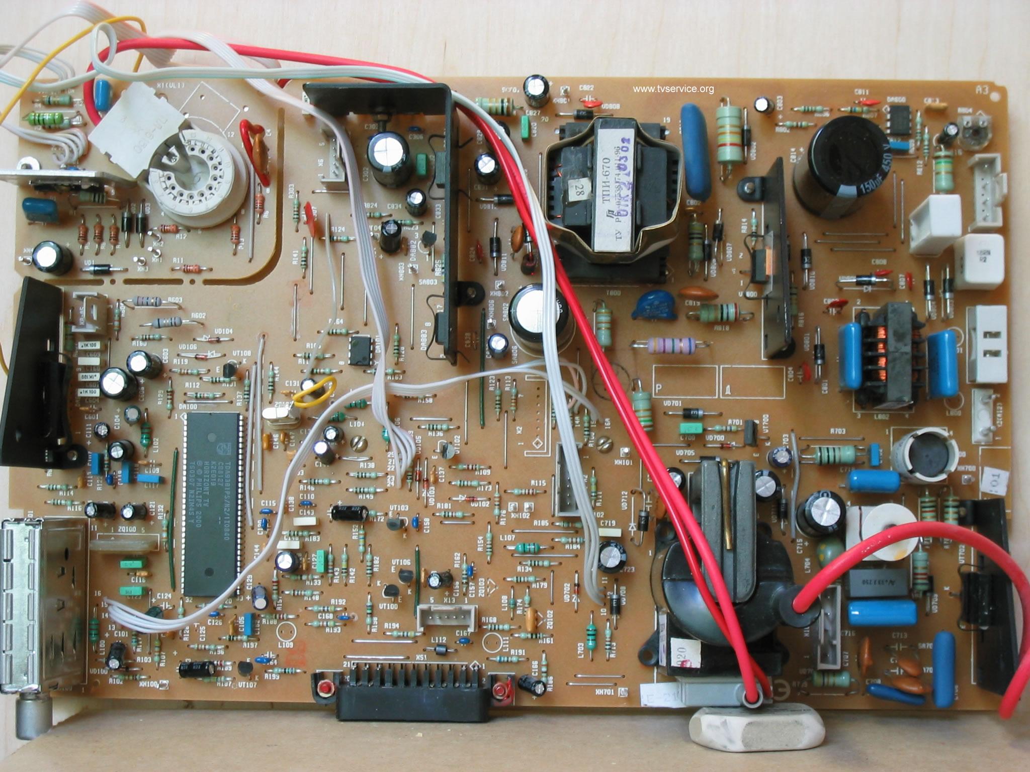 Электросхема телевизора горизонт 14е07