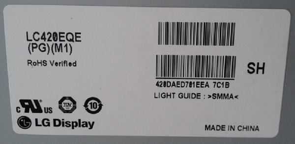 LC420EQE-PGM1  подсветка  LG 42UB820V