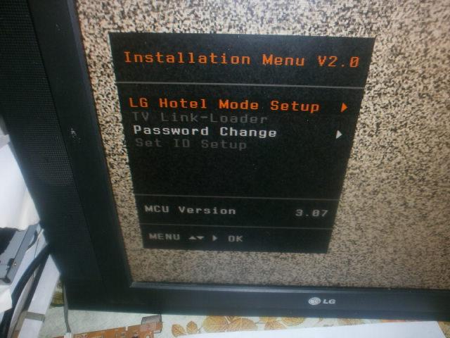 LG 20LS1R не отображается меню   TV Service
