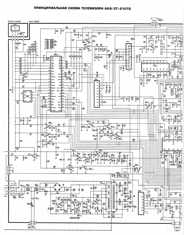 Схема на akai ct-2107d